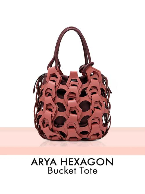 ARYA HEXAGON Bucket Tote